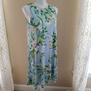 Anne Klein Sleeveless Floral Print Swing Dress